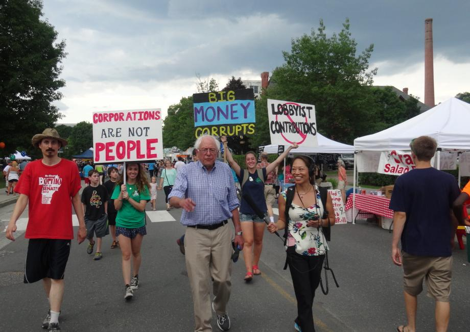 Bernie Sanders against Wall Street