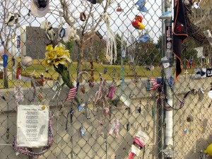 Fence dedicated to victims